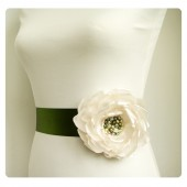 Rustic Bridal Dress Sash Belt