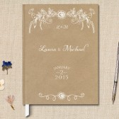Rustic Kraft Wedding Guest Book