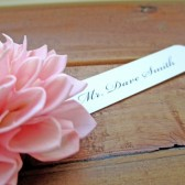 Wooden Pink Wedding Place Card
