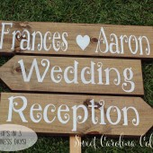Rustic Wedding Signs - Set of Three