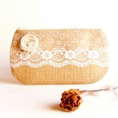 Country Rustic Wedding Clutch bridesmaid Gift Idea clutch by Lolos