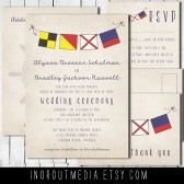 Rustic Nautical Invitation Suite