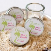 margarita salt wedding favor - custom colors and recipe card