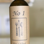 Wine Sleeve Menu/Table Number