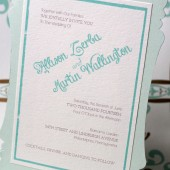 Gold and Mint Soda Shop Invite Set