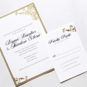 Deco Swirl Wedding Invitation Set