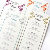 Spring Flower Menu Card