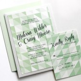 Mint and Gray Geometric Invitation Set