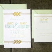 Gold Chevron Arrow Invitation Set