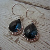 Navy Blue Bridesmaid Earrings