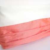 Custom Bridesmaid Clutch / Bridesmaid Gift / Color Block Silk and Satin / Vintage Wedding