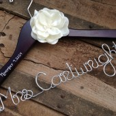 Bridal Hanger with Satin Flower