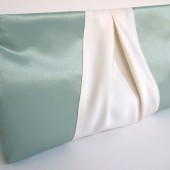 Custom Order Satin Ribbon Clutch Purse / Bridesmaids Gifts / Vintage Wedding