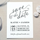 Save The Date Sophisticated Black & White
