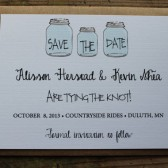 Mason Jar Save the Date Invitation