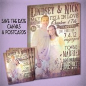 Save the Date Postcards with Canvas Print!
