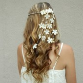 seashell-hair-accessory, floral-crown, hair-flowers, shell-hair-jewelry, beach-wedding-veil, flower-crown, seashell-headband, flower-headband, beach-bride-head-piece