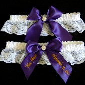 Regal Purple Wedding Garter