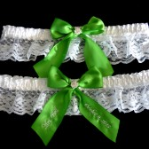 Apple Green Wedding Garter Set