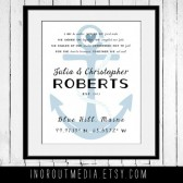 Together We Set Sail customized wedding art print