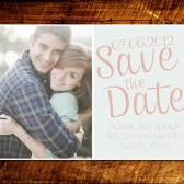 Shabby Chic Photo Save the Date