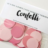 Raspberry sorbet shades of pink confetti packet – Limited Edition