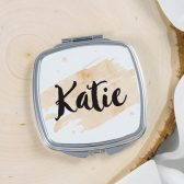 Personalized Mirror - Bridesmaids gift - Bridal party gift - Makeup Mirror - Pocket Mirror - Custom Compact Mirror - Watercolor - Modern