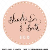 Shayla Confetti Polka Dot Favor Labels