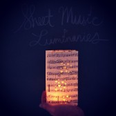 Sheet Music Luminaries, Music Decor
