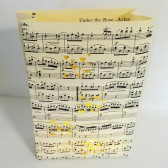 Sheet Music Centerpiece, Sheet Music Luminary Bag