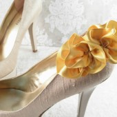 Yellow Gold Shoe Clips