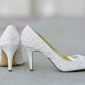 Ivory Wedding Shoes with Ivory Lace