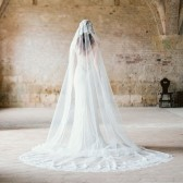 Style 301 - Lace Mantilla Cathedral Veil by SIBO Designs