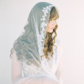 Style 403 - Beaded Vine Bridal Veil by SIBO Designs