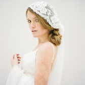 Style 618 - Beaded Juliet Cap Veil by SIBO Designs