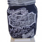 Mason Jar Sign for your drinks table