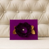 Silk Folio Keepsake and Invitation Set Deposit - Mila - Purple Floral Illustrated Wedding Invitation