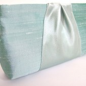 Custom Order Clutch Purse for Bridesmaids Gifts / Dupioni Silk & Satin Ribbon