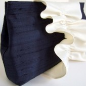 Custom Bridesmaid Clutch / Bridesmaid Gift / Silk and Satin Ruffle Clutch / Vintage Wedding