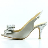 Silver Slingback Wedding Shoes