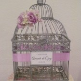Silver Birdcage Wedding Card Holder