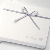 Silver Wedding Thank You Card