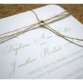 Simple Knot Wedding Invitation