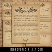 Rustic Laurels Invitation Suite