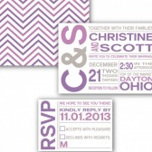 Fun, Modern Bold Typography Wedding Invitation