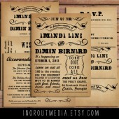 Whimsical Typography Invitation Suite