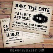 Western Typography Save the Date