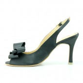 Black Slingback Bridal Shoes