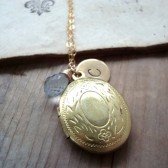 Personalized Brass Locket Necklace