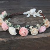 Flower Crown, Sola Flowers, Flower Girl, Wedding Hair Accessory, Rustic Head Wreath, Bespoke Bride, Wedding Crown, Boho Bride, Beach Wedding